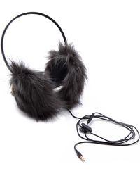 Juicy Couture - Faux Fur Earmuff Headphones - Lyst