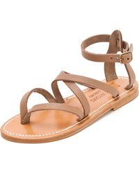 K. Jacques Epicure Crisscross Sandals - Lyst