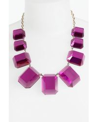 Kate Spade Jumbo Jewels Frontal Necklace - Lyst