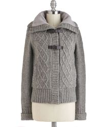 ModCloth Takes Me Buckle Jacket gray - Lyst