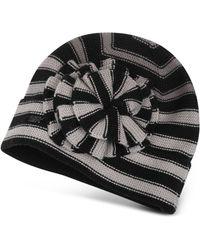 Sonia Rykiel - Striped Flower Wool Skull Hat - Lyst