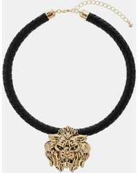 Topshop Lions Head Collar Necklace - Lyst