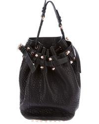 Alexander Wang Diego Pebble Bucket Bag black - Lyst