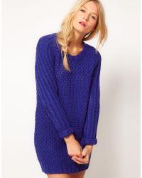ASOS Collection  Textured Stitch Jumper Dress - Lyst
