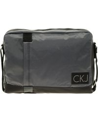 Calvin Klein Gray Messenger Bag - Lyst