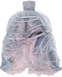 Oscar de la Renta Layered Tulle Gown - Lyst