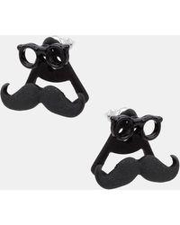 Topman Moustache Stud Earrings - Lyst