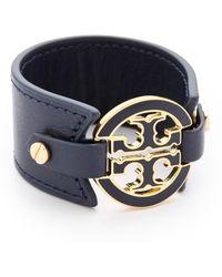 Tory Burch Wide Labyrinth Cuff Bracelet In Gold Lyst
