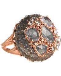 Federica Rettore | Sapphire White Brown Diamond Sea Urchin Ring | Lyst
