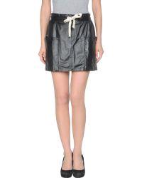 MSGM Leather Skirt - Lyst