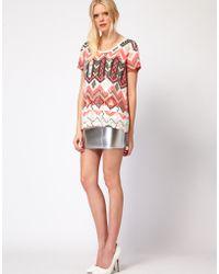 Sass & Bide - Sass and Bide The Star Turn Skirt in Silver Neoprene - Lyst