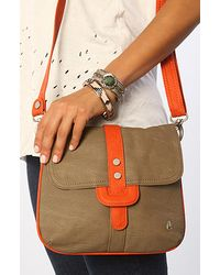 Nixon The Scope Crossbody Purse in Burnt Orange - Lyst