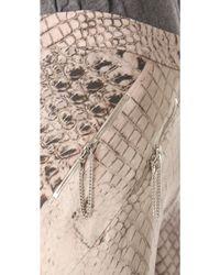 Willow - Croc Print Bias Pants - Lyst