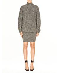Alexander Wang Wool Acrylic Marled Mockneck Sweater - Lyst