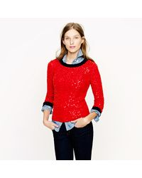 J.Crew Scattered Sequin Sweater - Lyst