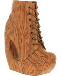 Jeffrey Campbell Roxie Wedge Wood - Lyst