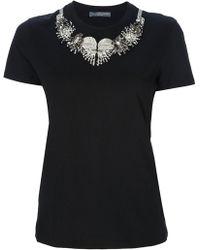 Alexander McQueen Embellished Tshirt - Lyst
