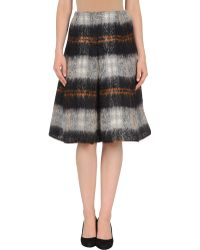 Balenciaga 3/4 Length Skirt gray - Lyst