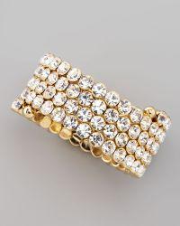 Cara - Crystal Spiral Bracelet White - Lyst