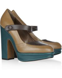 Marni Leather Mary Jane Pumps - Lyst