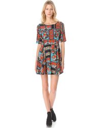 Mink Pink Kiss From A Rose Dress - Multi - Lyst