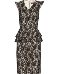 Project D - Electra Lace and Peplum Dress - Lyst