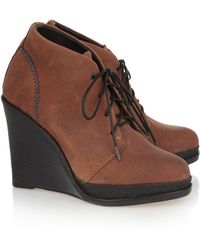 Rag & Bone Odval Leather Wedge Ankle Boots - Lyst