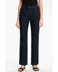 St. John Yellow Label Marie Straight Leg Stretch Jeans blue - Lyst