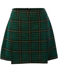 Therapy Check Skirt green - Lyst
