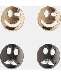 Topman Emotion Stud Earrings Set Of 2 - Lyst