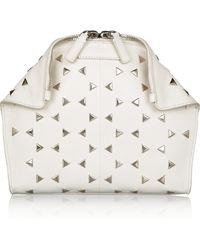 Alexander McQueen De Manta Studded Leather Cosmetics Case - Lyst