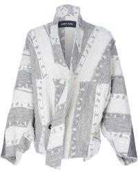 Damir Doma Jocom Kimono Sleeve Jacket gray - Lyst
