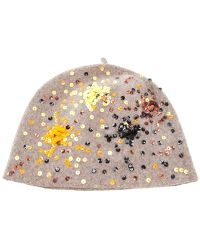 Exquisite J - Sequin Detail Fitted Hat - Lyst