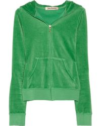 Juicy Couture Velour Hooded Top - Lyst
