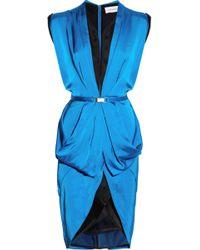 Julien Macdonald Origami Silksatin Dress - Lyst