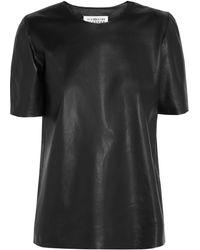 Maison Margiela Leather Tshirt black - Lyst