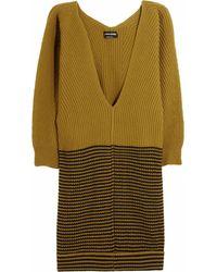 Sonia Rykiel Ribbed Wool and Cashmereblend Sweater Dress - Lyst