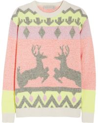 Stella McCartney Reindeer Intarsia Woolblend Sweater multicolor - Lyst