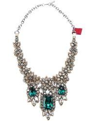 Valentino Crystal Embellished Necklace - Lyst