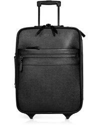 Burberry Black Textured Leather Carry-On Suitcase - Lyst