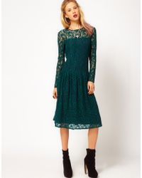 ASOS Collection - Asos Lace Dress with Dropped Waist - Lyst