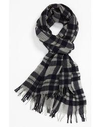Ermenegildo Zegna Cashmere Silk Blend Scarf black - Lyst