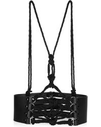 Prabal Gurung - Leather and Cord Harnessstyle Belt - Lyst