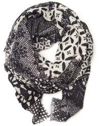Yarnz - Neo Lace Print Scarf - Lyst