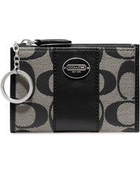 Coach Legacy Signature Mini Skinny Wallet - Lyst