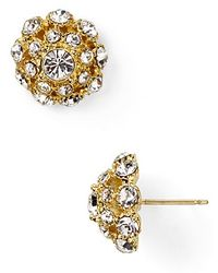 Kate Spade Putting On The Ritz Small Stud Earrings gold - Lyst