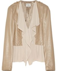 Alice By Temperley - Alexander Leather and Georgette Jacket - Lyst