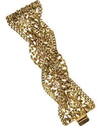 Elizabeth Cole - 24karat Goldplated Chain Bracelet - Lyst