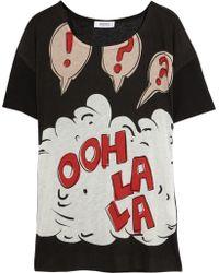 Sonia by Sonia Rykiel Ooh La La Jersey T-Shirt black - Lyst