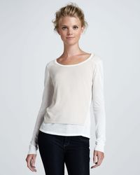 Elizabeth And James Layered Cotton-silk Pullover white - Lyst